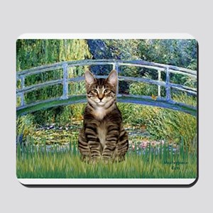 Bridge - Tabby Tiger cat 30 Mousepad